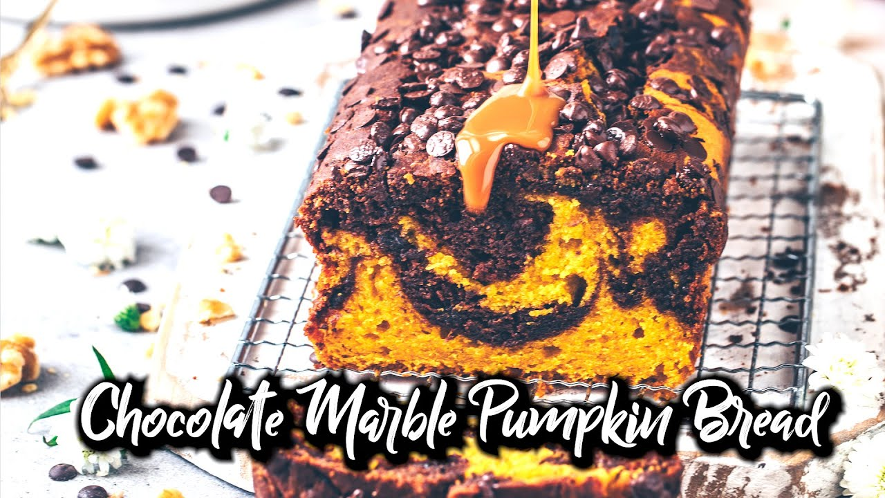 Chocolate Pumpkin Bread / Vegan Marble Cake Loaf * Recipe