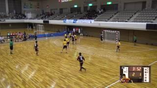 5日 ハンドボール男子 あづま総合体育館 Bコート 山陽×法隆寺国際 1回戦 1