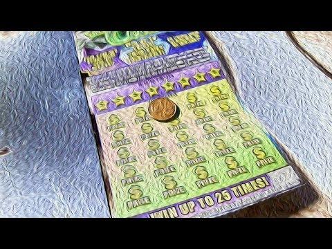 WON AGAIN! $25 100X the cash fl lottery ticket