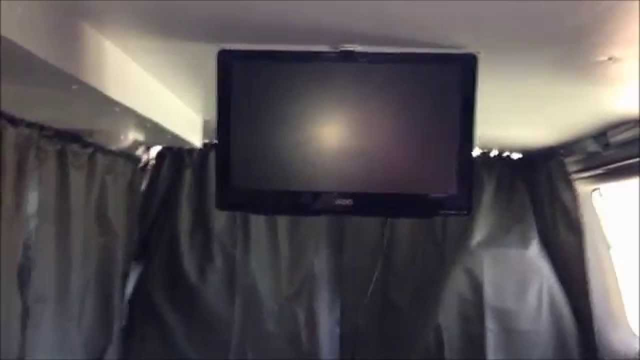 Rv 12v Tv Mounted In The Ford E350 Camper Van Conversion