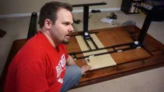 Left Hand Reviews #51a Adjustable Height Gaming Table Part 1 - Uplift Desk Unboxing And Assembly