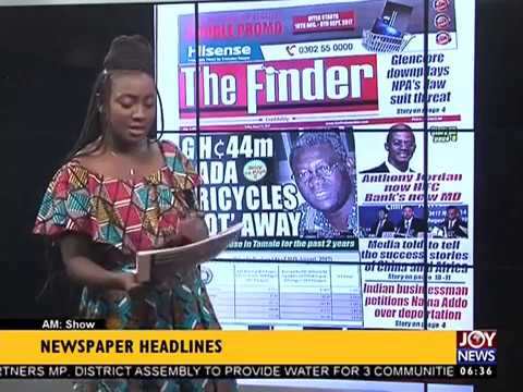 AM Show Newspaper Headlines on JoyNews (18-8-17)