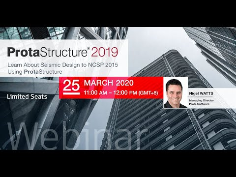 Seismic Design to NCSP 2015 Using ProtaStructure