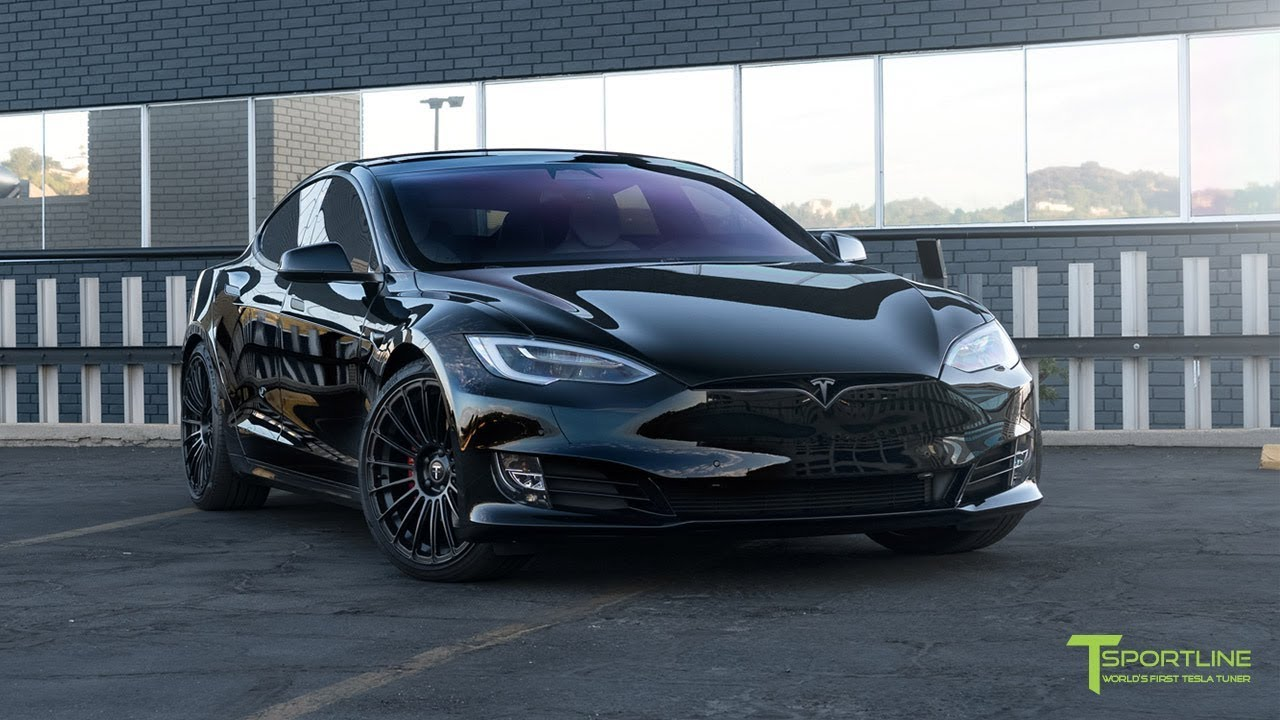 Tesla Model S P100d Black Fully Customized Exterior Interior
