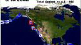 1/1/2008 - 4/28/2008 North America Earthquake Animation