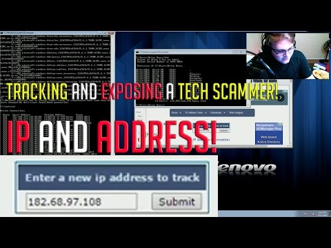 Showing a Tech Scammer his IP and Location.