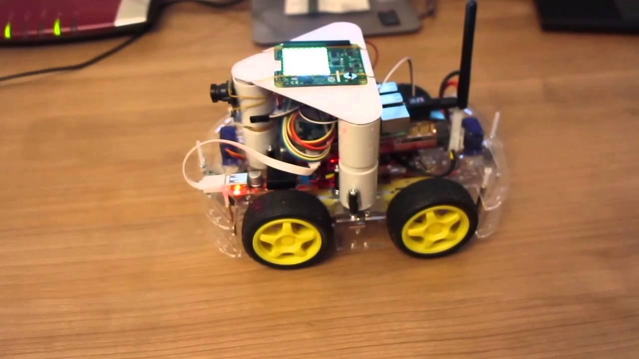 Raspberry Pi Robot - autonomous drive sensor-test