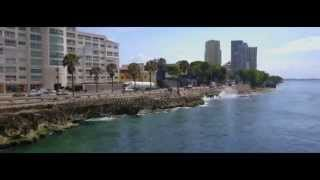 Video documentary, of Dominican Republic from the air 2015