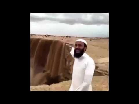 Beautiful Sand Waterfalls in Arab Saudi - Beautiful Waterfalls in the world
