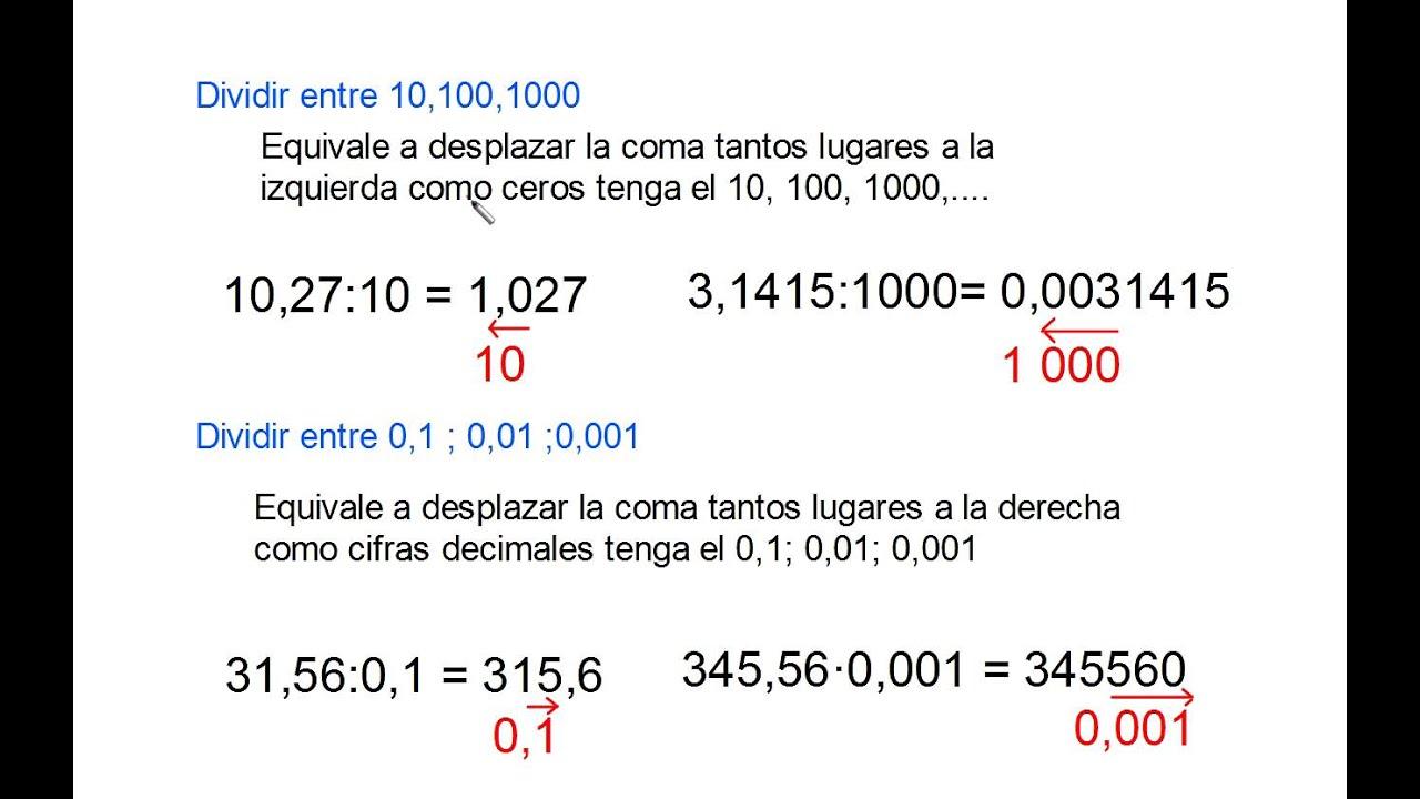 Multiplicar Y Dividir Por 10 100