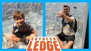CHICAGO SKYDECK LEDGE...WHO WAS BRAVE ENOUGH?