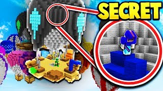 SECRET UNBREAKABLE SKYBASE! *EASY WINS* (Minecraft Bed Wars)