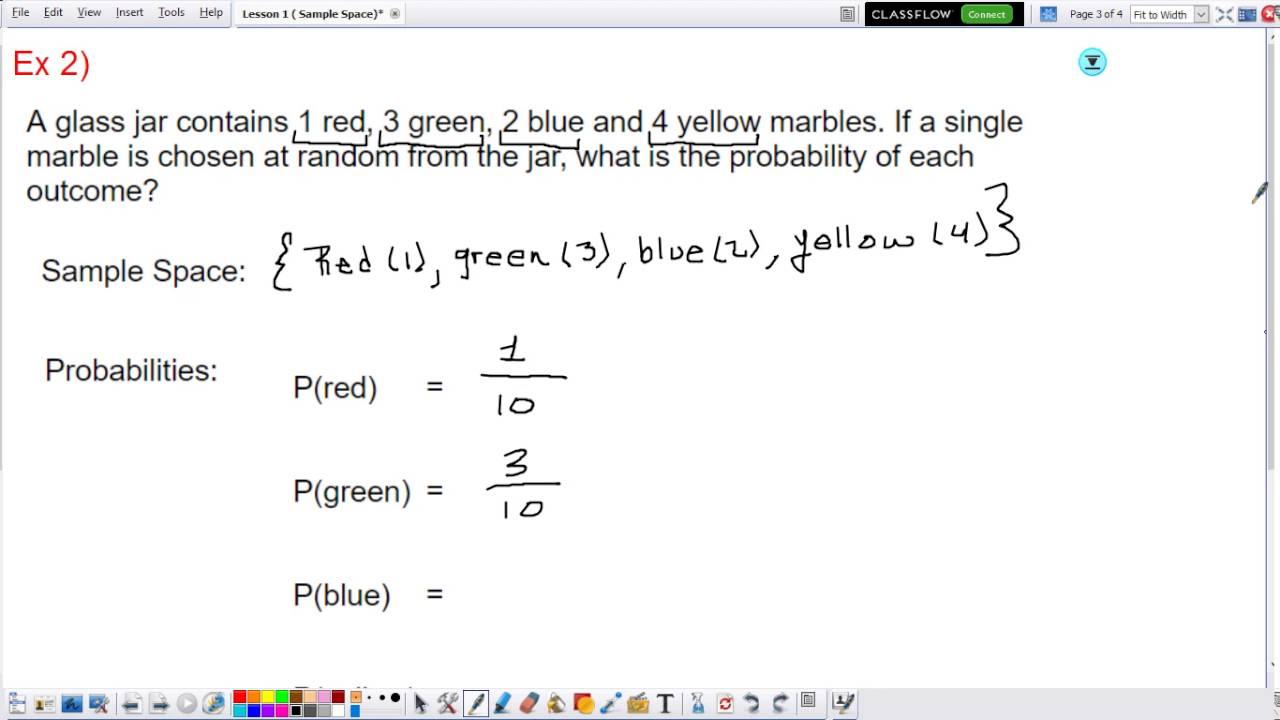 Sample Space and Probability | Algebra 2 - YouTube