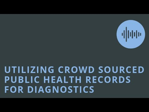 Utilizing Crowd Sourced Public Health Records from Social Networks for Evidence Based Diagnostics