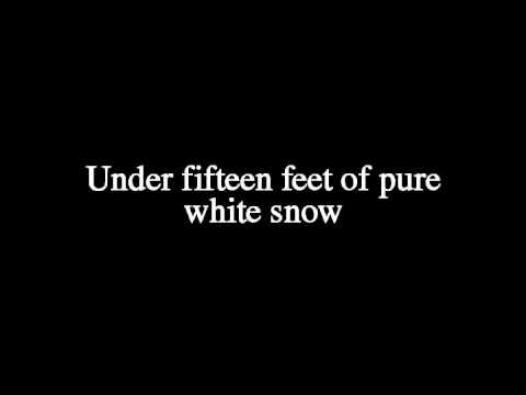 Nick Cave - Fifteen Feet Of Pure White Snow (LYRICS!)