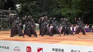 原宿スーパーよさこい2016より、 百物語 さんの文化館ステージでの演舞(2016年8月27日)