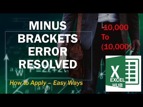 How to Change minus to brackets in excel.webm