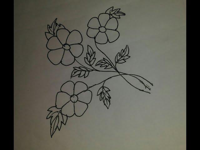 Hand embroidery floral design/Floral design(nokshi/noksha)for beginners/????/????