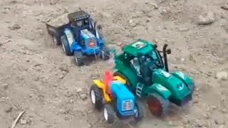 HMT tractor with heavy load rocks trolley  boom Kutty