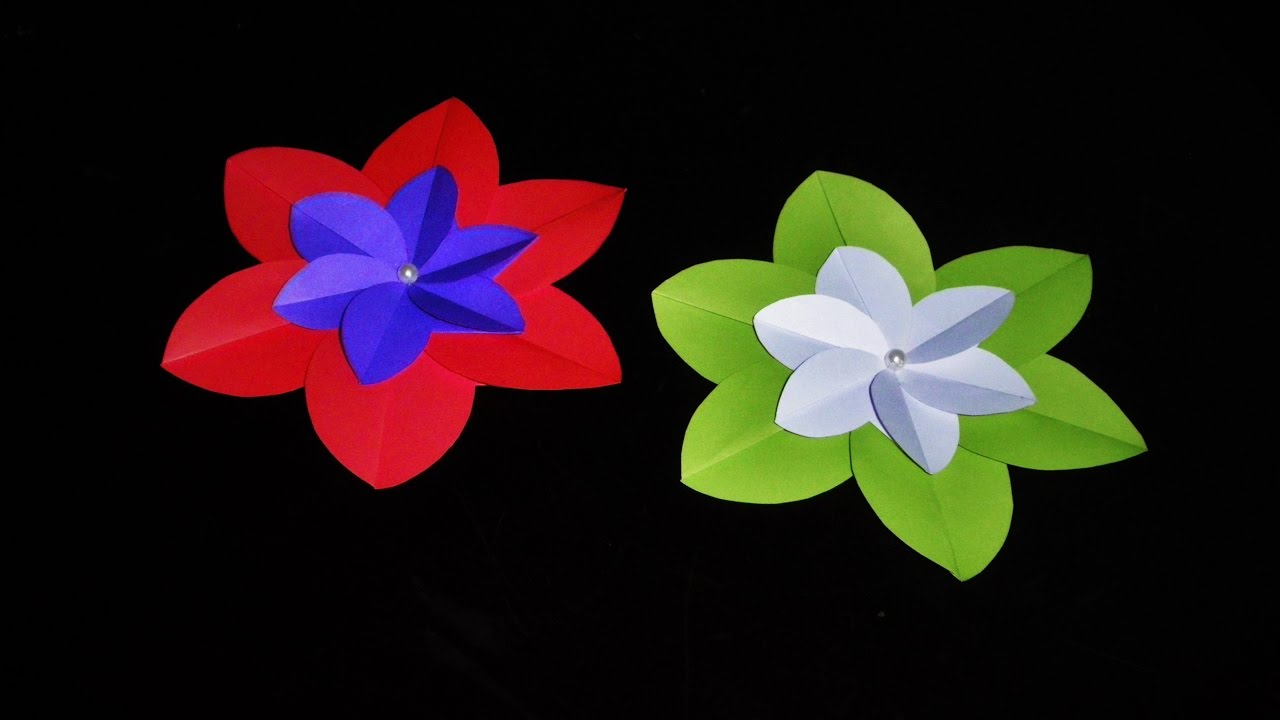 Origami flowers for beginners how to make origami flowers very origami flowers for beginners how to make origami flowers very easy decoration idea dhlflorist Choice Image