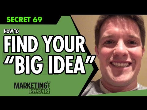 "How To Find Your ""BIG IDEA"""