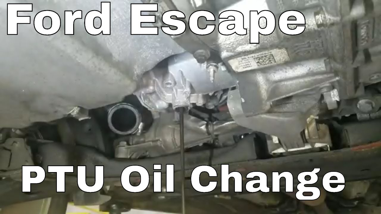 2013 2019 Ford Escape Ptu Power Transfer Unit Oil Change