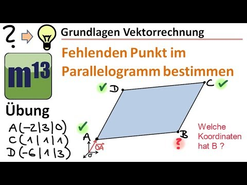 vierter punkt im parallelogramm berechnen bung. Black Bedroom Furniture Sets. Home Design Ideas