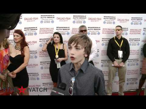 Gavin Casalegno red carpet interview at 2012 Dallas International Film Festival