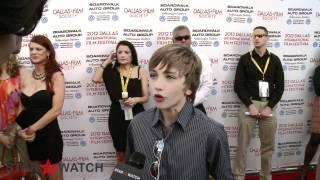 Gavin Casalegno red carpet interview at 2012 Dallas International Film Festival