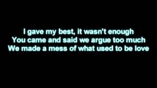 Usher - Climax, Lyrics