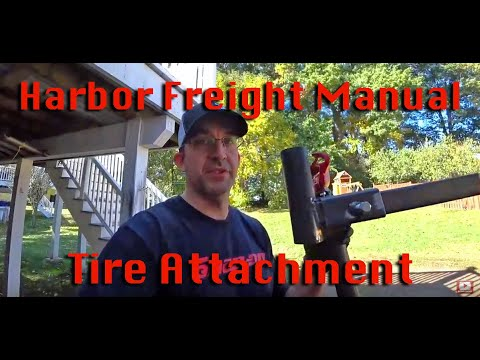Harbor freight tire changer modification attachment