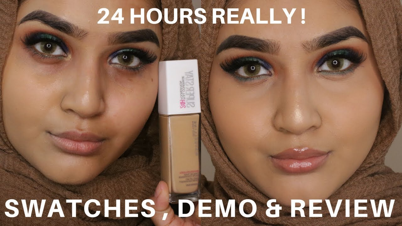 Maybelline Superstay Foundation 24 Hour Review Swatches ...