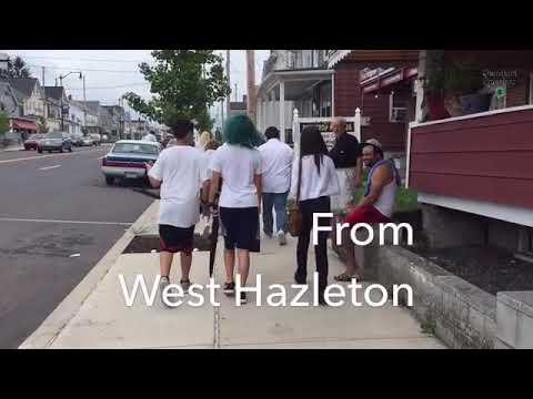 A peace walk from West Hazleton to Hazleton