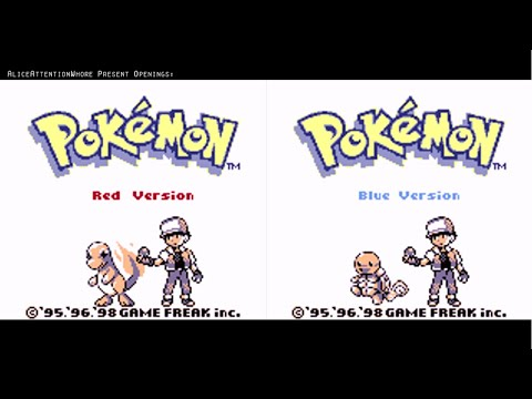 All Main Pokémon Game OPenings 2012 GB, GBC, GBA, NDS