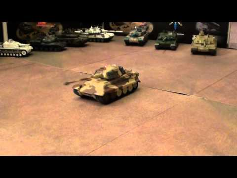 RC IR full battle King Tiger 1/72