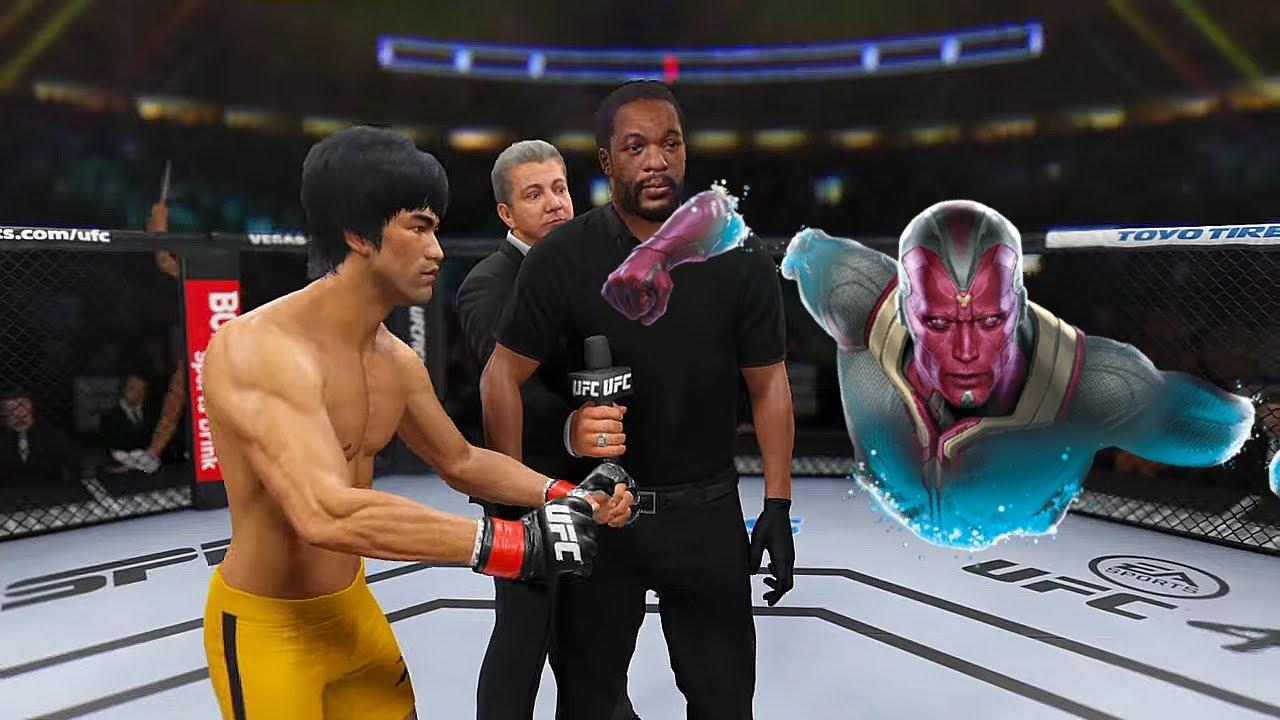 UFC4   Bruce Lee vs. Vision (MARVEL) - EA sports UFC 4