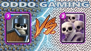 GUARDS VS SKELETON ARMY - CLASH ROYALE BATTLE #21
