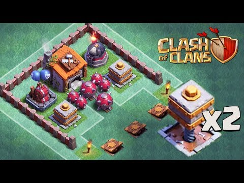 DOUBLE CRUSHER AND ROASTER TROLL BASE   Clash of Clans   Funny CoC BH 6 Trolling