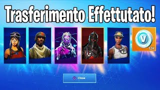 COMMENT TRANSFER ALL SKIN OF OUR ACCOUNT sur Fortnite