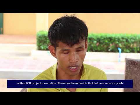 ICEVI The Nippon Foundation Higher Education Employment Video   Cambodia   Chhem Harch