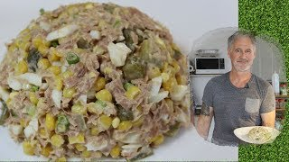 САЛАТ С ТУНЦОМ И КУКУРУЗОЙ.#1  Tuna and Corn Salad