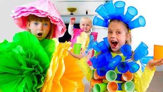 Настя и игры с Марго платья  для детей