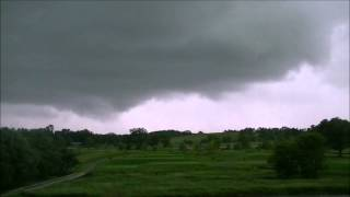 rotating wall cloud Cottage Grove, WI 6-18-14
