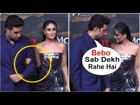 Kareena Kapoor Ends FIGHT With Abhishek Bachchan & HOLDS Hands Front Of Media At Mowgli Trailer