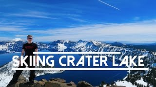 Skiing Crater Lake