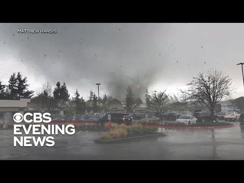 Rare tornado touches down outside Seattle