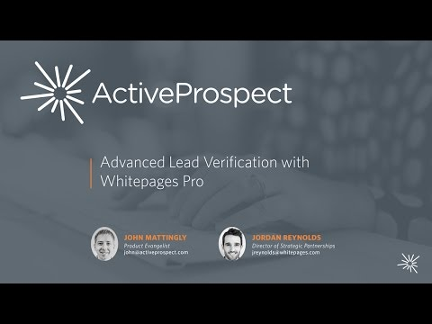 Advanced Lead Verification with Whitepages Pro