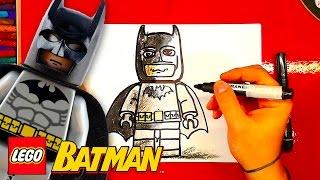 Как нарисовать Лего БЭТМЕН / How to Draw Lego Batman / урок рисования