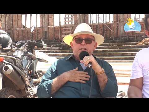 PASTOR CARLOS NATALINO RECEBE PRIMEIRAS PEÇAS PARA COBERTURA DO CENTRO DE EVENTOS