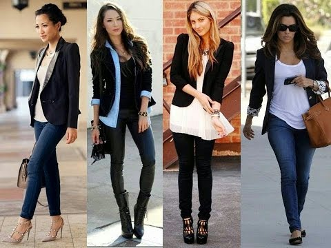 How to style a blazer with jeans. http://bit.ly/2zwnQ1x